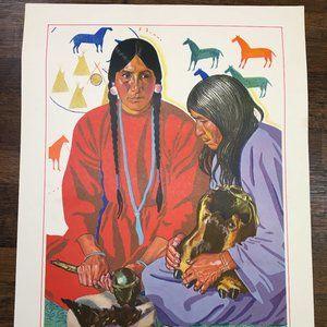 Winold Reiss Native/Aboriginal Art Litho Print